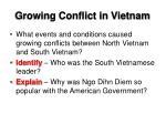 growing conflict in vietnam1