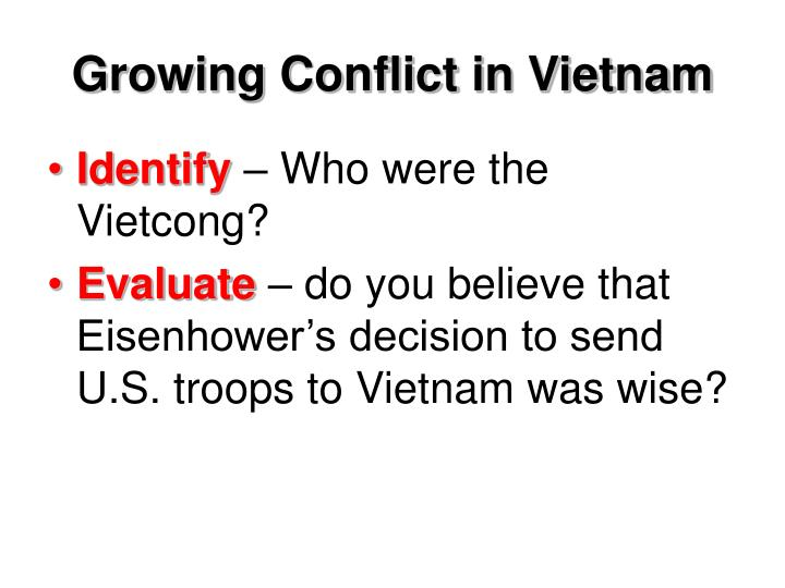 Growing Conflict in Vietnam