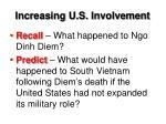 increasing u s involvement2