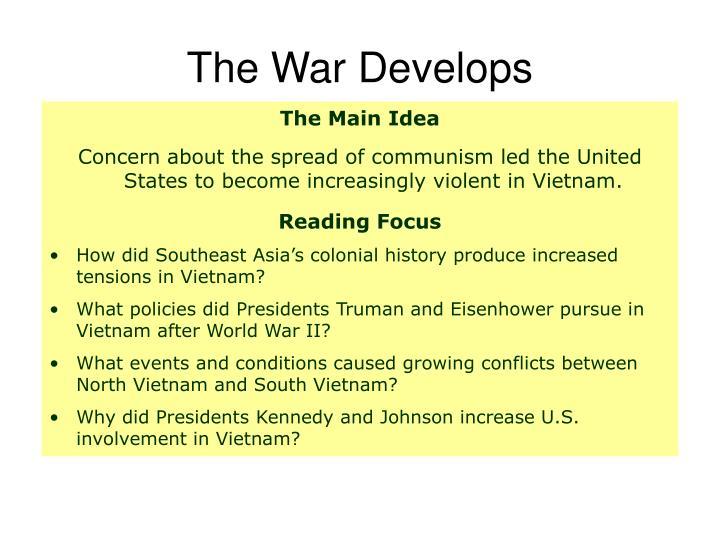 The War Develops
