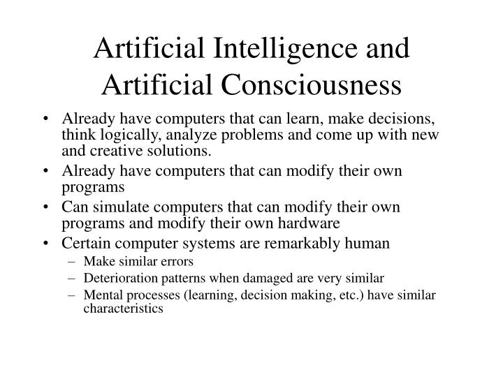 Artificial Intelligence and Artificial Consciousness