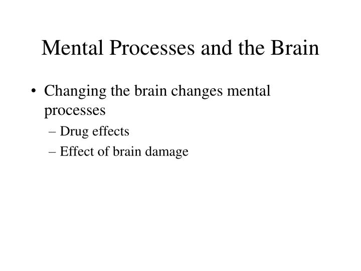 Mental Processes and the Brain