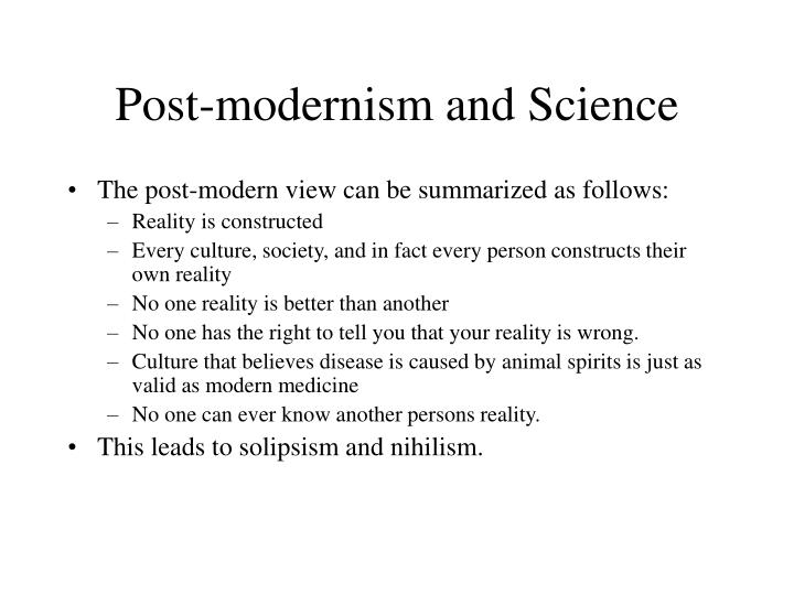 Post-modernism and Science