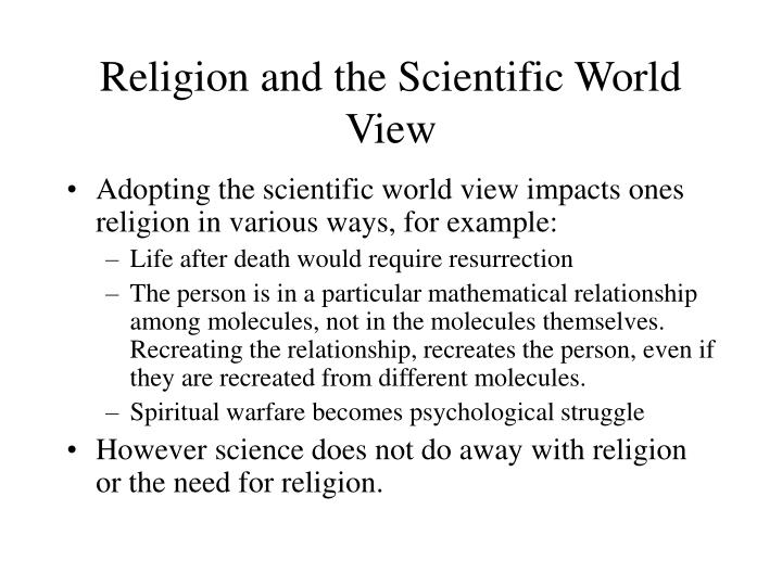 Religion and the Scientific World View