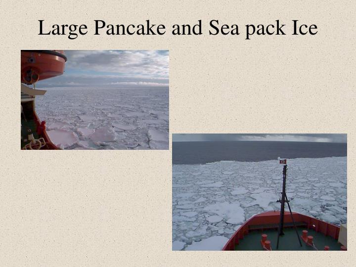 Large Pancake and Sea pack Ice