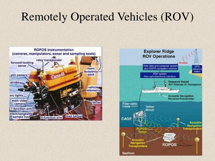 Remotely Operated Vehicles (ROV)