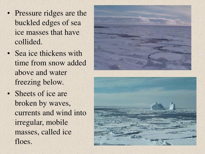 Pressure ridges