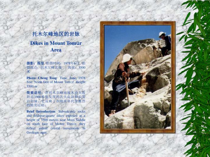 托木尔峰地区的岩脉