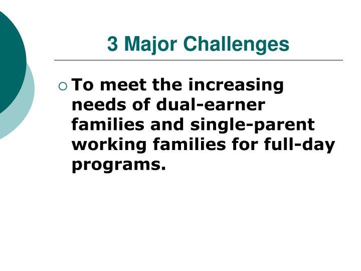 3 Major Challenges