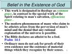 belief in the existence of god1