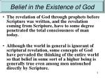 belief in the existence of god3