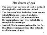 the decree of god