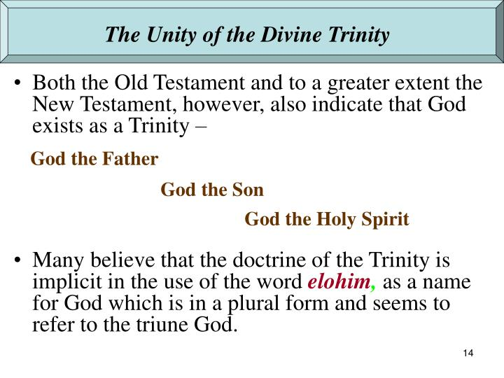 The Unity of the Divine Trinity