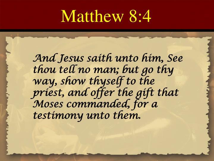 Matthew 8:4