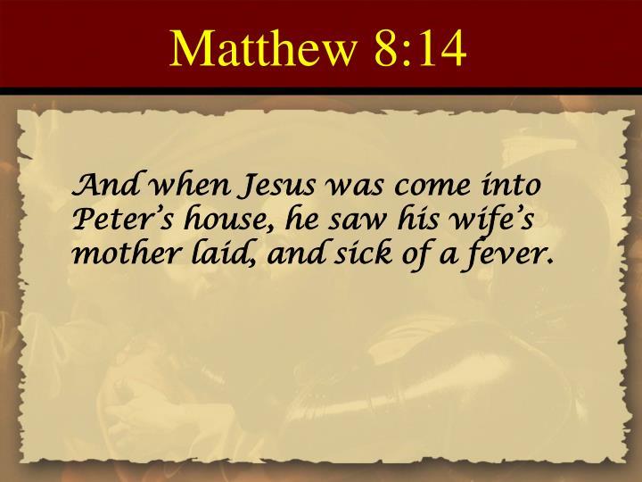 Matthew 8:14