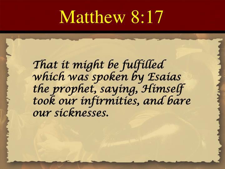 Matthew 8:17