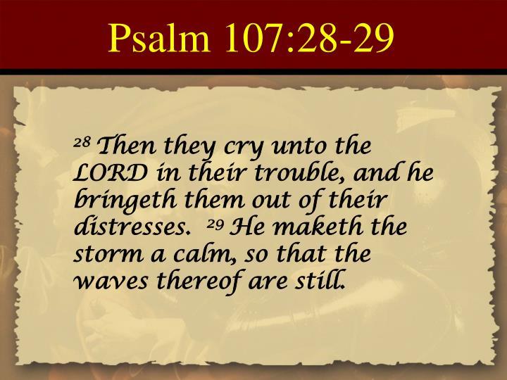 Psalm 107:28-29