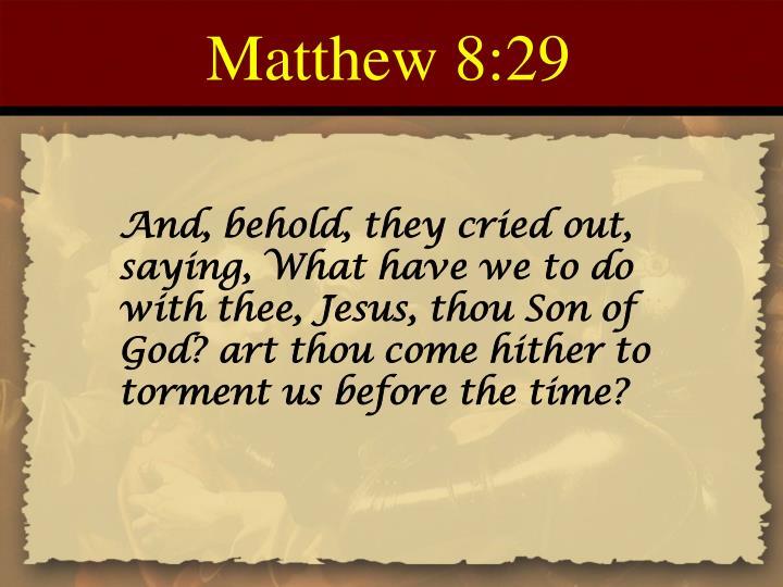 Matthew 8:29