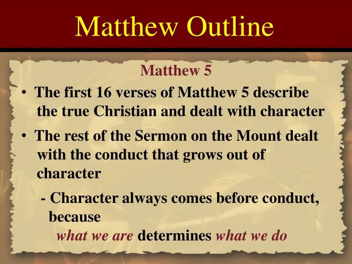 Matthew Outline