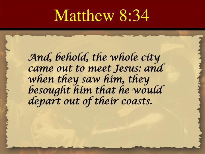 Matthew 8:34
