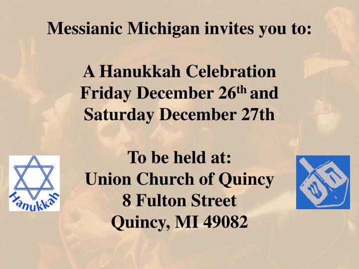 Messianic Michigan invites you to: