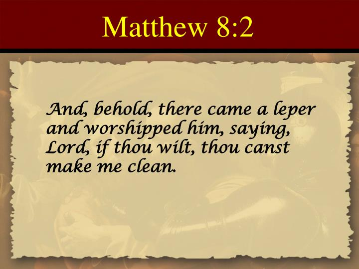 Matthew 8:2