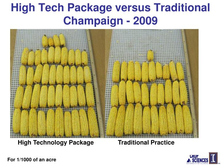 High Tech Package versus Traditional