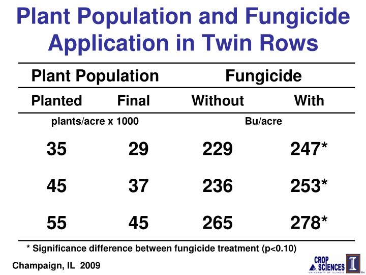 Plant Population and Fungicide Application in Twin Rows