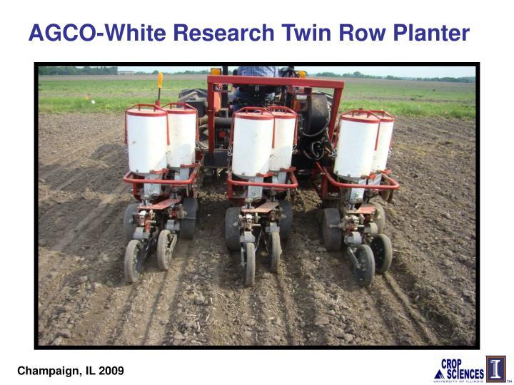 AGCO-White Research Twin Row Planter