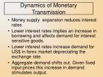 dynamics of monetary transmission