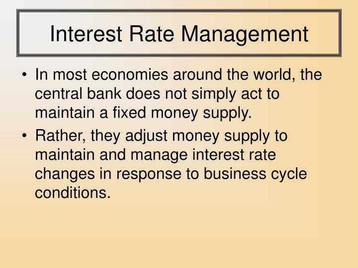 Interest Rate Management