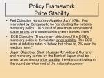 policy framework price stability