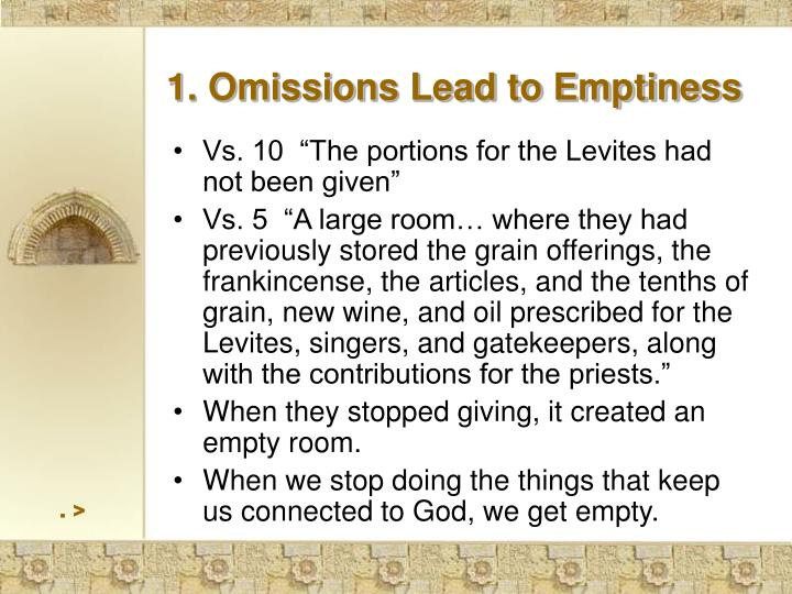 1. Omissions Lead to Emptiness