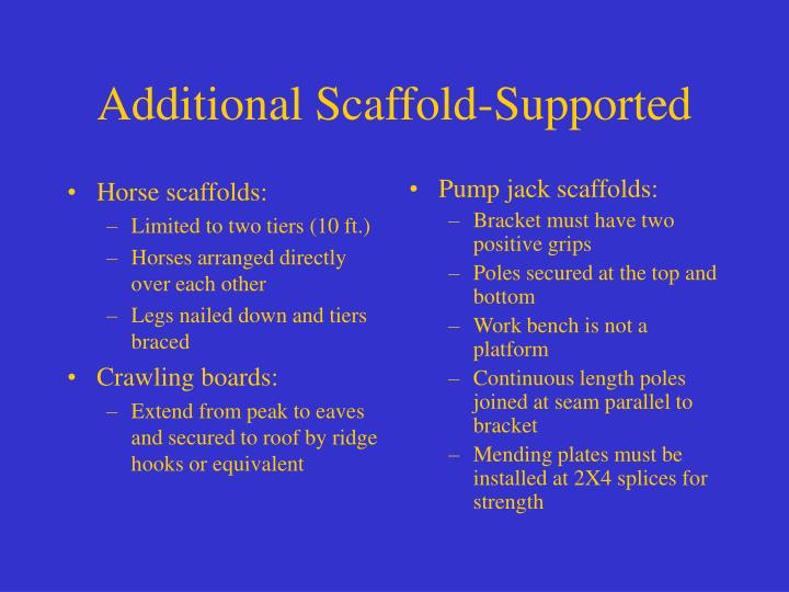 Horse scaffolds: