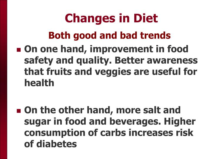 Changes in Diet