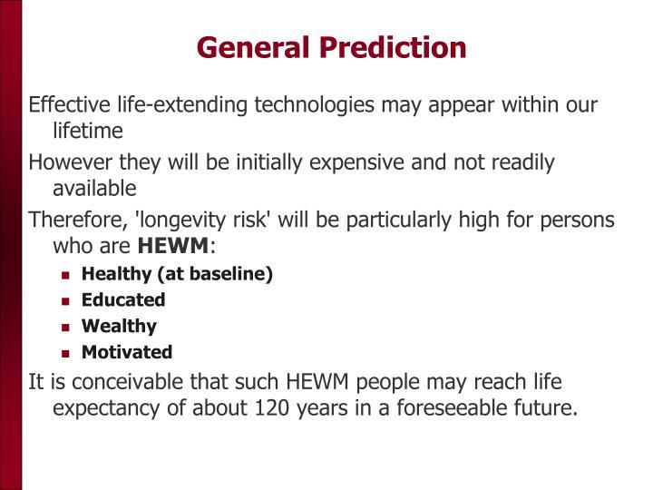 General Prediction