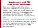 new breakthrough 2 most recent references