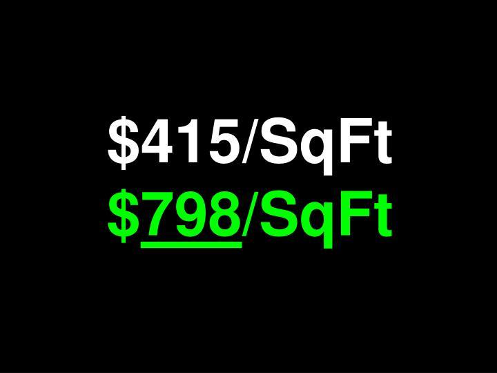 $415/SqFt