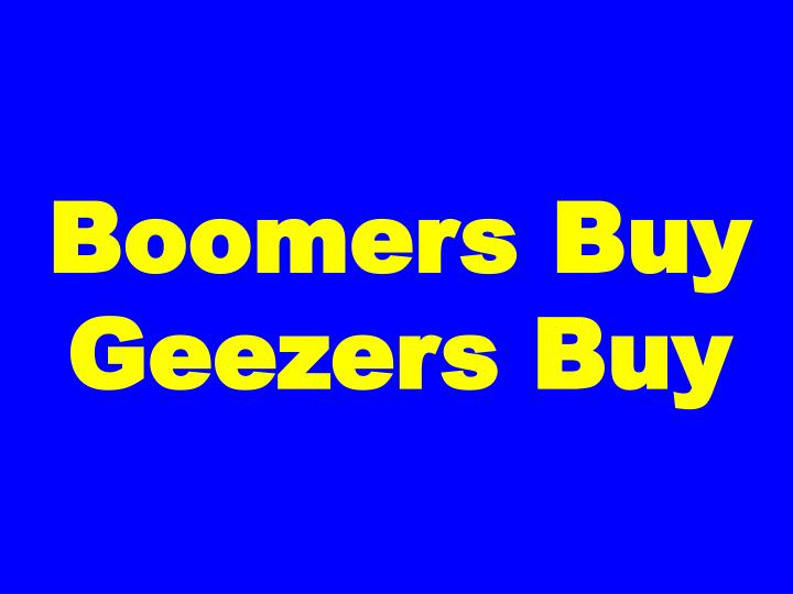Boomers Buy