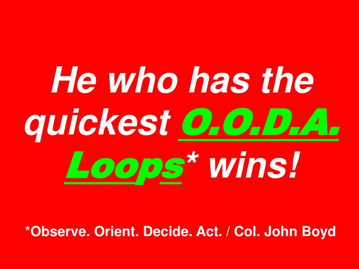 He who has the quickest