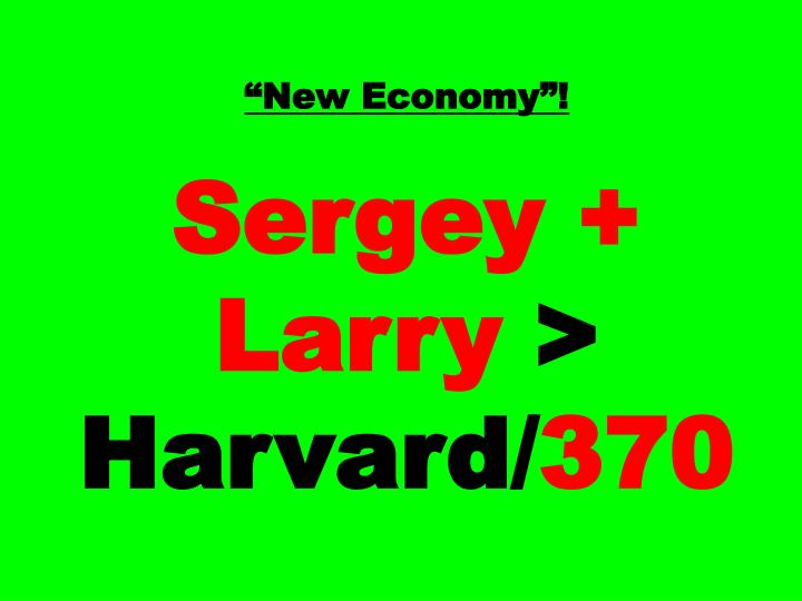 """""""New Economy""""!"""