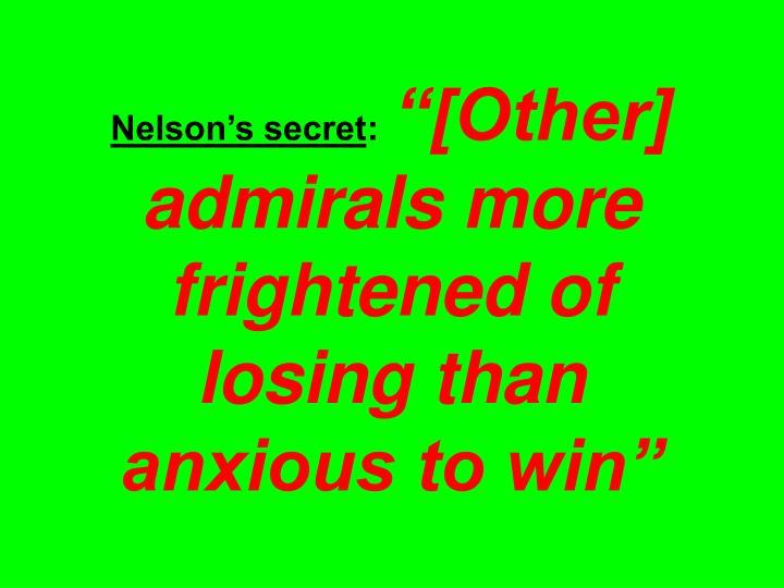 Nelson's secret