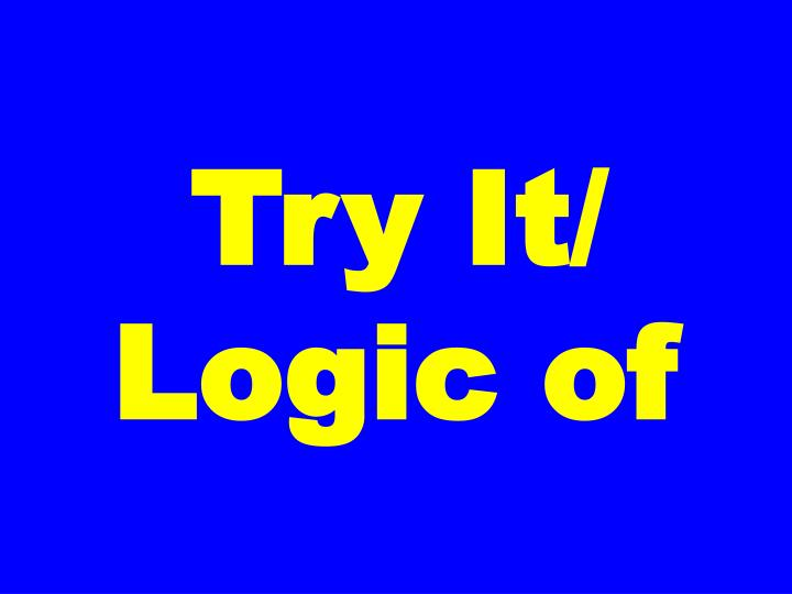Try It/