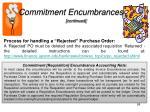 commitment encumbrances1