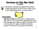invoices on qty rec hold3