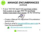 manage encumbrances continued2
