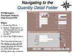 navigating to the quantity detail folder