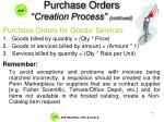 purchase orders creation process continued2