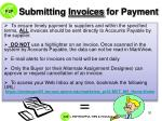 submitting invoices for payment