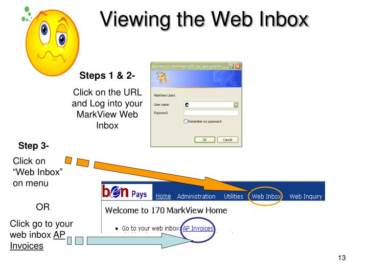 Viewing the Web Inbox
